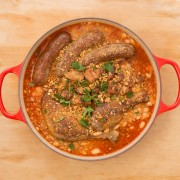 Revivalist Kitchen's Christmas Cassoulet, yummy french traditional cuisine, made with fresh whole food ingredients!