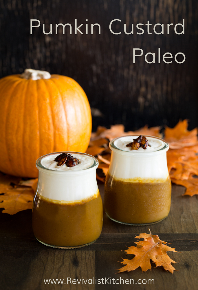 Pumpkin Custard! Gluten free & refined sugar free! Traditional food & Paleo friendly recipe! Click through to get recipe.